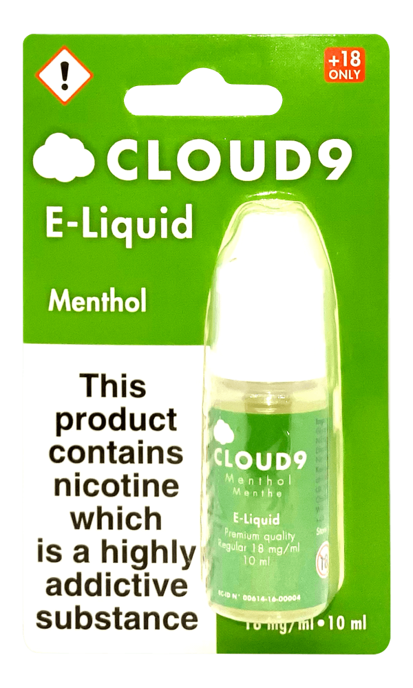 menthol cloud 9 e liquid product shot 2