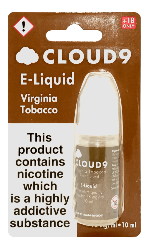 golden virginia tobacco cloud 9 e liquid product shot 1